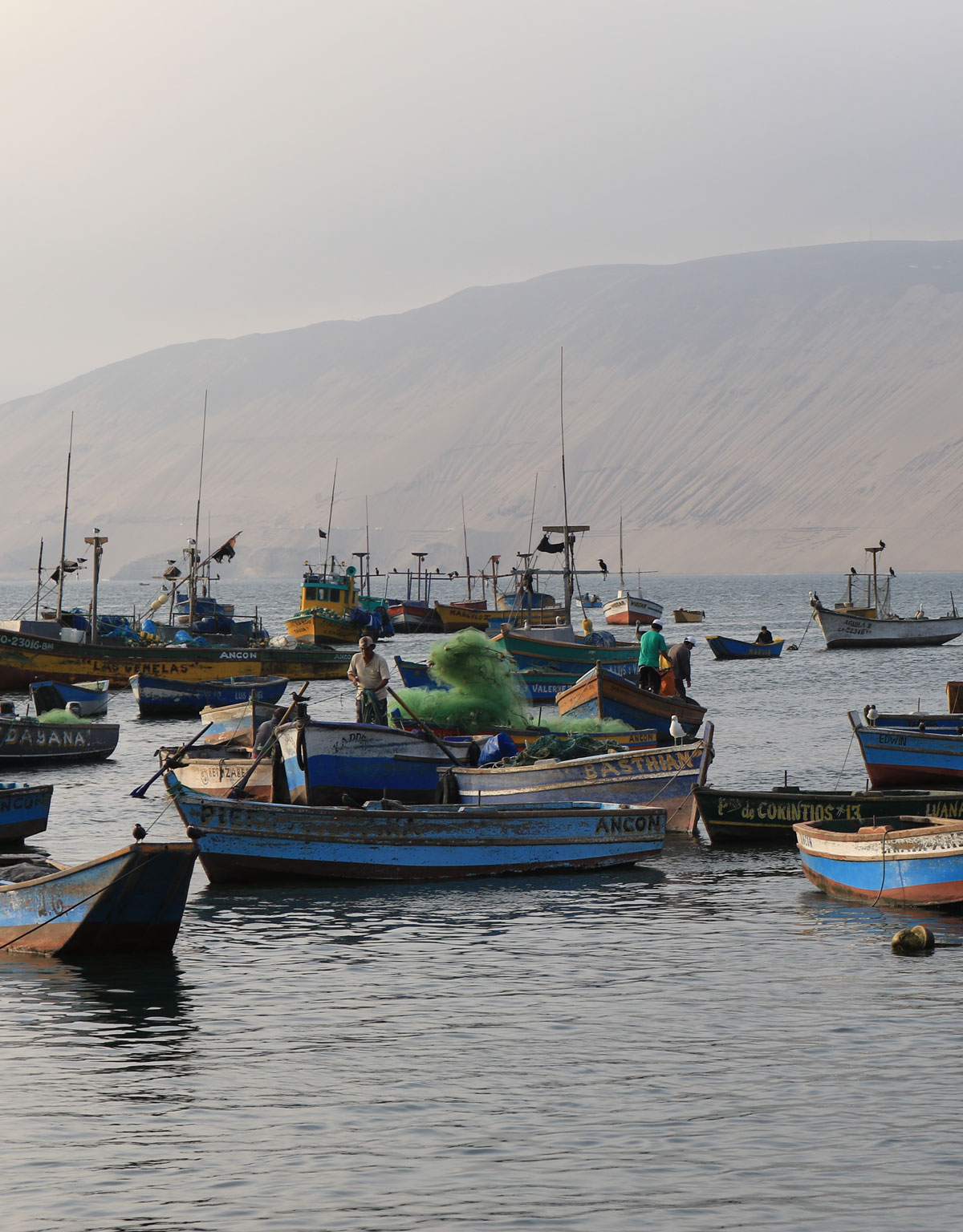 small fishing vessels in water