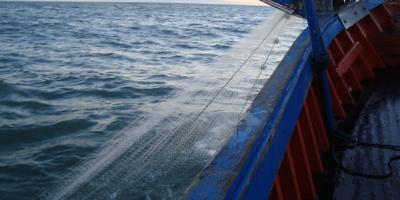 fishing boat with net